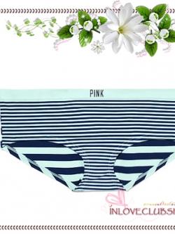 Victoria's Secret Panties / Seamless Hipster Panty (Size M / #Mint Frosting Stripe)