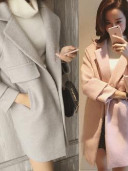 เสื้อโค้ทกันหนาว ทรงสวย ผ้าสำลีผสมสักกะหลาด เนื้อเบา นุ่ม เป็นทรง บุซับในกันลม พร้อมส่งจ้า