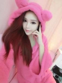 เสื้อกันหนาวฮู้ดดี้ หูกระต่าย ขนนิ่ม น่ารักหวานสุดๆ พร้อมส่ง --- สีชมพูเข้ม