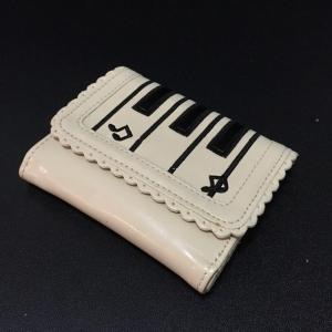 กระเป๋าสตางค์ เปียโนน่ารัก สีครีม
