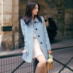 เสื้อโค้ทกันหนาว สไตล์ยุโรป ดีไซน์หรู แบรนด์ MILD BARLEY สีฟ้าอ่อน งานดีมากค่ะ ผ้าหนากันหนาวได้ดีมัซับใน