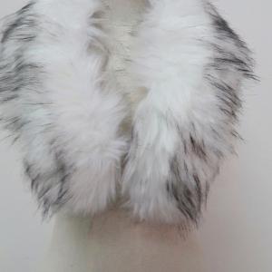 ขนเฟอร์ fur สีขาวแซมดำ ขนฟู ใช้ติดเสื้อหนาว หรือใช้พันคอเพิ่มความเก๋ มิกได้กับทุกชุด มาพร้อมกระดุมใส