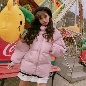 เสื้อกันหนาว ตัวสั้น สีชมพู น่ารักมาๆ งานจริงตามแบบเลยจ้า