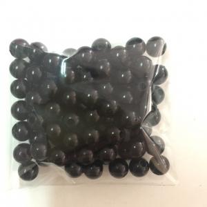 ลูกปัดมุก 8 มิล สีดำ