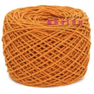 #S-008 (สีส้ม ดิ้นทอง)