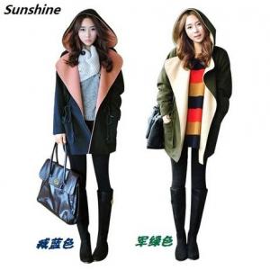 เสื้อกันหนาวฮู้ดดี้ ทรงเก๋ๆ แบบเกาหลี ผ้าเนื้อนิ่ม พร้อมส่ง เลือกสีที่พร้อมส่งด้านในเลยจ้า