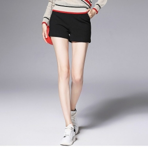 Shorts450 กางเกงขาสั้นสีดำผ้าคอตตอนเนื้อหนาสวย ซิปข้าง กระเป๋า 1 ข้าง Size M, L, XL