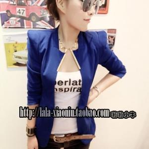 พร้อมส่ง - สีน้ำเงิน เสื้อสูท เก๋ๆ ทรงสวย