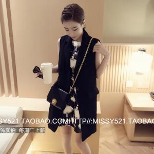 เสื้อคลุมแฟชั่นแขนกุด ตัวยาว เกาหลีมากๆ เรียกได้ว่างานดีแบบเก๋จ้า พร้อมส่งเลยน๊าา