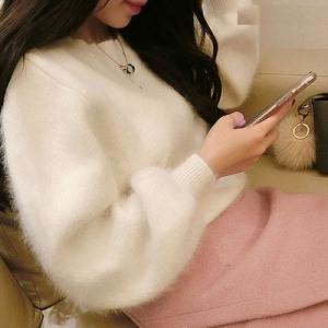 เสื้อแขนยาว ขนนุ่มมากกกก สไตล์เกาหลี สาวหวานพลาดไม่ได้