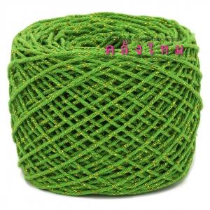 #S-006 (สีเขียว ดิ้นทอง)