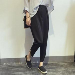 กางเกง 5 ส่วน ทรงสวย สีดำ เก๋ๆ พร้อมส่ง