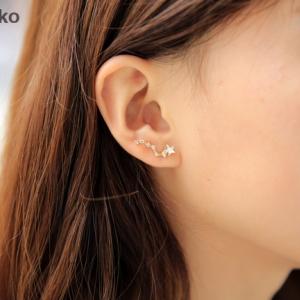 ต่างหูชุบทอง18Kรูปกลุ่มดาวสไตล์เกาหลี