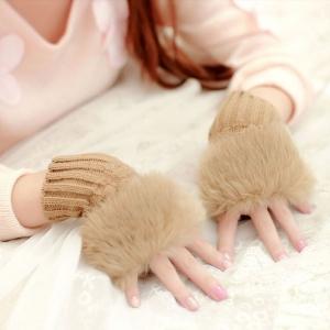 ถุงมือขนเฟอร์ กันหนาว พร้อมส่ง