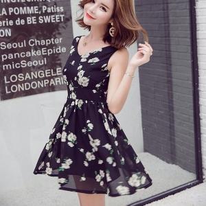 Dress4071 เดรสคอวีทรงสวย มีซิปหลังใส่ง่าย มีซับในอย่างดี ผ้าชีฟองเนื้อดีเกรดพรีเมียมลายดอกไม้พื้นสีดำ งานดีเนื้อผ้าลายสวย ดีเทลดีงามปลื้มสุด จัดด่วนๆ จ้า
