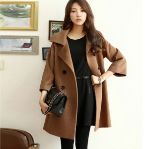 เสื้อโค้ทกันหนาว ทรงหลวม สไตล์เกาหลี ดีไซน์หรู คุณภาพดีมาก พร้อมส่ง