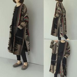 เสื้อคลุมกันหนาว ตัวยาว ผ้าทอเนื้อแน่นนุ่ม งานดีผ้าดีตามแบบเลยจ้า ใครชอบแนวนี้ต้องรีบจัดเลยจ้า