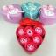 กล่องหัวใจวาเลนไทน์ ดอกกุหลาบ6ดอก(มีกลิ่นหอม) สีแดง thumbnail 1