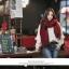 ผ้าพันคอ ไหมพรม เกาหลี สีแดงคาดเขียว มิกกับชุดไหนก็สวย พร้อมส่ง thumbnail 2