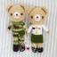 """ตุ๊กตาถัก น้องหมี ทหาร 6"""" thumbnail 1"""