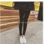 กางเกงขายาว ผ้าคอตตอนผสม ด้านในเป็นผ้าสำลี สกรีนลายตัวอักษรด้านข้าง พร้อมส่ง thumbnail 2