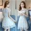 Dress4072 เดรสลูกไม้ลายสวยสีขาวสุดคลาสสิค มีซิปหลังใส่ง่าย งานดีทรงดีใส่สวย เรียบแต่หรู ผ้าดีเหมือนราคาหลักพัน ใส่ออกงานได้สบาย thumbnail 4