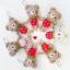 ตุ๊กตาถัก พวงกุญแจ หมีสตรอเบอร์รี่ 4 นิ้ว thumbnail 1