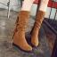Boots รองเท้าบูท หนังสักกะหลาด สีน้ำตาลอ่อนเสริมส้นและบุผ้าสพลีด้านใน ใส่แล้วเซอร์ วินเทจมากค่าาา thumbnail 1