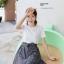 **สินค้าหมด Dress4100-Size-XL เดรสน่ารักผ้าคอตตอนเนื้อหนานุ่มสีพื้นขาว ตัดต่อกระโปรงผ้าทอญี่ปุ่นลายสก็อตโทนสีขาวดำ thumbnail 6