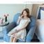 Dress4072 เดรสลูกไม้ลายสวยสีขาวสุดคลาสสิค มีซิปหลังใส่ง่าย งานดีทรงดีใส่สวย เรียบแต่หรู ผ้าดีเหมือนราคาหลักพัน ใส่ออกงานได้สบาย thumbnail 6