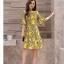 Dress4180 เดรสทรงสวย แขนระบาย ซิปหลังใส่ง่าย มีซับในทั้งชุด ผ้าชีฟองเนื้อดีลายกราฟฟิคโทนสีเหลือง งานดีทรงดี ใส่เมื่อไหร่ก็สวย ทรงนี้ใส่ได้เรื่อยๆ thumbnail 5