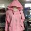 เสื้อกันหนาว ฮูดดี้ สีชมพูอ่อน น่ารัก ผ้าสำลี ทรงสั้น แต่งปลายฮู้ดด้วยขนก้อน สาวร่างเล็ก พลาดไม่ได้เลย ผ้าไม่หนามากแต่นุ้มนุ่มค่า thumbnail 5