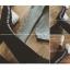 กางเกงขายาว ผ้าคอตตอนผสม ด้านในเป็นผ้าสำลี สกรีนลายตัวอักษรด้านข้าง พร้อมส่ง thumbnail 5