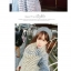 ผ้าพันคอกันหนาว ไหมพรม เกาหลี สีขาวแซมดำ น่ารักคุณหนู พร้อมส่ง thumbnail 2