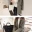 เสื้อโค้ทกันหนาว สไตล์เกาหลี ทรงสวย Classic บุซับในกันลม ใส่แบบตั้งปกขึ้นก็เก๋ สีเทา พร้อมส่ง thumbnail 2