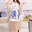 **สินค้าหมด Dress4005 ชุดเดรสทรงสวยผ้าลายเชิงพิมพ์ลายผีเสื้อดอกไม้สีน้ำเงินพื้นขาว ซิปข้างใส่ง่าย มีซับในอย่างดีทั้งชุด ผ้าชีฟองอัดลายเนื้อดีหนาสวยเกรดพรีเมียมมีน้ำหนักทิ้งตัวสวย ผ้าสวยเกินราคา งานดีเหมือนราคาหลักพัน แนะนำเลยจ้า (ไม่มีเข็มขัด) thumbnail 3