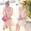 พร้อมส่ง - Lady Twinkle Glam Mini dress มินิเดรสแต่งเลื่อมและลูกปัดสีครีม thumbnail 8