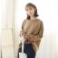 Sweater เสื้อสเวทเตอร์แขนยาว สีน้ำตาล ทรงสวย จะใส่เดี่ยวไหรือใส่โค้ทคลุมก็เริ่ด thumbnail 4
