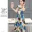 **สินค้าหมด Dress3989 Maxi Dress ชุดเดรสยาวทรงสวยลายกราฟฟิค แต่งกระดุมหน้า เอวสม็อคยางยืด ผ้าลินินเนื้อดีหนาสวย งานดีใส่เมื่อไหร่ก็สวย ชุดเดียวสวยจบ thumbnail 3