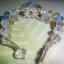(ขายแล้วคะ) L04 สร้อยข้อมือถักรูปดอกไม้ หลายสี คริสตัลโมดาร์ thumbnail 3