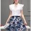**สินค้าหมด Set_bs1546 ชุด 2 ชิ้น(เสื้อ+กระโปรง)แยกชิ้น เสื้อแขนระบายผูกโบว์คอผ้าเนื้อหนาสวยสีพื้นขาว+กระโปรงลายดอกไม้โทนสีกรม เอวสม็อคยางยืดหลัง ซิปข้าง ผ้ามิลินเนื้อหนาเรียบสวยมีซับในอย่างดี งานน่ารักผ้าสวยเกินราคา งานดีเหมือนราคาหลักพัน แมทช์กันได้อย่า thumbnail 7