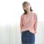 Sweater เสื้อสเวทเตอร์แขนยาว สีชมพู ทรงสวย จะใส่เดี่ยวไหรือใส่โค้ทคลุมก็เริ่ด thumbnail 12