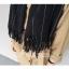 ผ้าพันคอกันหนาว ผ้าคลุมไหล่ วินเทจ สีดำ เข้าได้กับทุกชุด พร้อมส่ง thumbnail 2