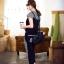 Set_bt1601 ชุดเซ็ท 2 ชิ้น(เสื้อ+กางเกง) เสื้อแขนสั้นสกรีนลายอก กางเกงขายาวสี่ส่วนเอวยืด มีกระเป๋าข้าง งานผ้าคอตตอนสีพื้นตัดลายสก็อต งานดีแบบน่ารัก ผ้านุ่มใส่สบายยืดขยายได้ ใส่เก๋ๆ ได้บ่อย มี 2 สี ขาว, ดำ thumbnail 7