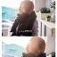 ผ้าพันคอ ไหมพรม เกาหลี สีดำ มิกกับชุดไหนก็สวย พร้อมส่ง thumbnail 5