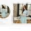 Dress3884-สีฟ้า ชุดเดรสทรงสวยโทนสีพาสเทล แขนยาวลูกไม้เนื้อนุ่ม ตัดเย็บด้วยผ้าเนื้อโฟมหนานิ่มมีน้ำหนักทิ้งตัวสวย มีซิปหลังใส่ง่าย งานดีเกรดพรีเมี่ยมคุณภาพเหมือนราคาหลักพัน ทรงสวยเป๊ะใส่ออกงานสวยๆ รุ่นนี้ได้ไปถูกใจแน่นอนคอนเฟิร์มจ้า thumbnail 3