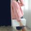 Sweater เสื้อสเวทเตอร์แขนยาว สีชมพู ทรงสวย จะใส่เดี่ยวไหรือใส่โค้ทคลุมก็เริ่ด thumbnail 7