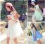 เสื้อตัวยาว/ mini dress สุดน่ารัก ผ้าฝ้ายปักลายหวานๆ พร้อมส่ง thumbnail 1
