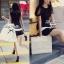 พร้อมส่ง - Dorothy Little Black Dress Pleats Trim Size M : มินิเดรสสีดำตัดขอบขาวที่กระโปรง thumbnail 6