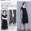 Dress4062 Big Size เดรสยาวทรงปล่อยไซส์ใหญ่สีพื้นดำแต่งขอบสีเทาเมทัลลิค ผ้าซาร่าเนื้อหนาเงาสวยมีน้ำหนักทิ้งตัว ผ้านุ่มใส่สบายมาก งานดีเหมือนราคาหลักพัน แบบสวยเรียบหรูใส่ได้ทุกโอกาส thumbnail 7